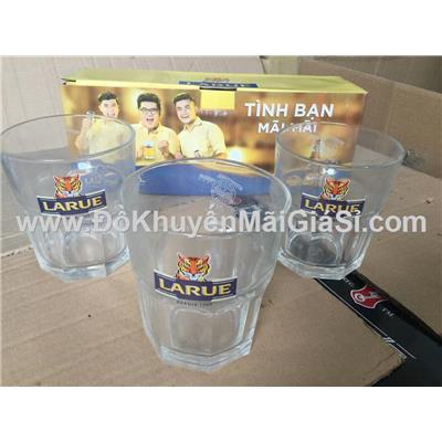 Bộ 3 ly thủy tinh Thái Lan UG-389 không quai, bia Larue tặng - Dung tích ly: 320ml - Có hộp đựng