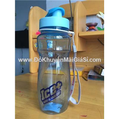 Bình nước Kirin màu xanh biển, nắp bật, có dây xách, nhựa Duy Tân, dung tích 700 ml