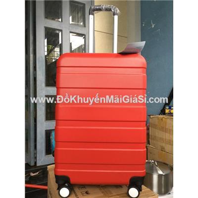 Vali kéo du lịch có khóa số size lớn 24 in màu đỏ, sữa Nuti tặng - Kt: (40 x 25 x 65) cm - Phí giao hàng tính riêng 20 ngàn