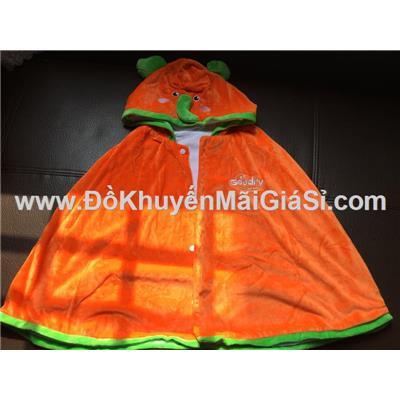 Màu cà rốt: Áo choàng Goodry hình thú vải nhung mềm mịn cho bé <= 6 tuổi - Dài 50 cm tính từ vai áo