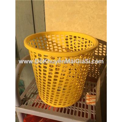 Sọt rác nhựa tròn Sunlight tặng - Kt: (20.5 x 20.5 x 19.5) cm