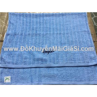 Khăn tắm Comfort màu xanh dương gân sọc - Kt: (80 x 50) cm