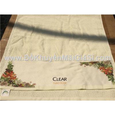 Khăn tắm Clear thảo dược màu vàng nhạt gân chéo - Kt: (100 x 50) cm