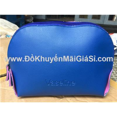Bóp đựng đồ cá nhân/ mỹ phẩm Vaseline màu xanh chống ướt - Kt: (24 x 8 x 16) cm