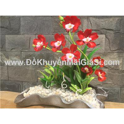 Chậu hoa địa lan Handmade bằng đất sét - Kt: (30 x 12 x 28) cm - Phí giao hàng tính riêng 10 ngàn