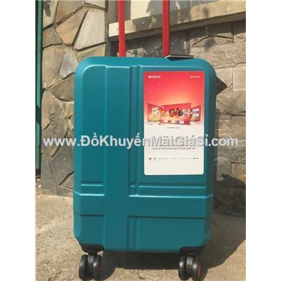 Xanh: Vali nhựa kéo du lịch Sony 20 inch có khóa số - Kt: (56 x 35 x 23) cm - Phí giao hàng tính riêng 10 ngàn