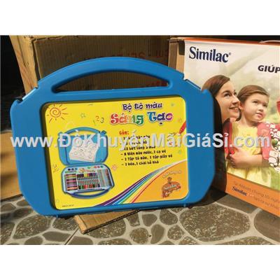 Bộ tô màu sáng tạo Similac 60 món kèm hộp đựng nhựa dạng vali - Kt: (40.5 x 5.5 x 31.5) cm