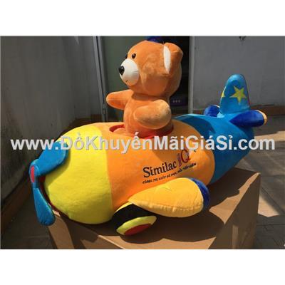 Gấu cử nhân Similac lái máy bay nhồi bông cỡ lớn - Kt: (65 x 40 x 45) cm - Phí giao hàng tính riêng 10 ngàn