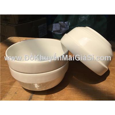 Bộ 3 tô sứ trắng kiểu bầu ngấn 6 in - Kt tô: (15.8 x 7.8) cm