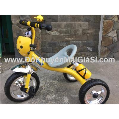 Vàng: Xe đạp 3 bánh Enfa có chuông, giỏ trước + bình nước - Kt: (70 x 48 x 60) cm - Phí giao hàng tính riêng 20 ngàn