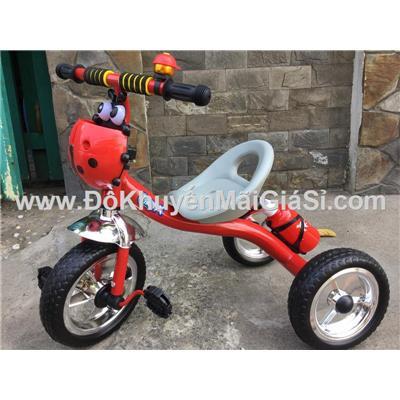 Đỏ: Xe đạp 3 bánh Enfa có chuông, giỏ trước + bình nước - Kt: (70 x 48 x 60) cm - Phí giao hàng tính riêng 20 ngàn