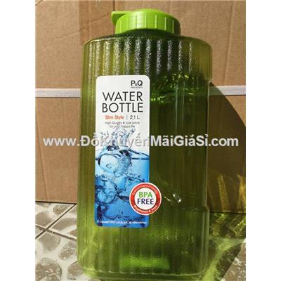 Bình nhựa Lock&Lock 2.1 lít HAP736 nắp bật màu xanh lá