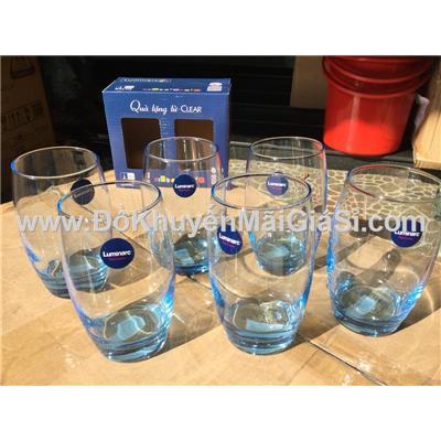 Bộ 6 ly thủy tinh Luminarc Salto 350ml màu xanh - Hộp 2 cái x 3 hộp