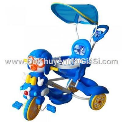 Chim cánh cụt xanh dương: Xe 3 bánh Nhựa Chợ Lớn L10 có bảo hiểm, nhạc, mái che, cần đẩy - Phí giao hàng tính riêng 50 ngàn