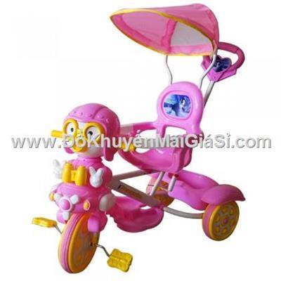 Chim cánh cụt màu hồng: Xe 3 bánh Nhựa Chợ Lớn L10 có bảo hiểm, nhạc, mái che, cần đẩy - Phí giao hàng tính riêng 50 ngàn