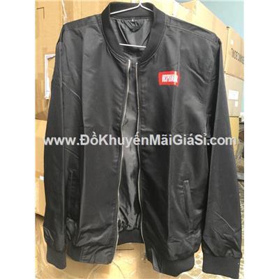 Áo khoác dù 2 lớp cao cấp cho nam màu đen, bia Desperados tặng - Size L