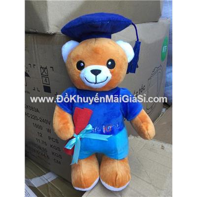 Gấu bông cử nhân Similac đeo cặp/ cầm bằng/ cầm sách - Kt: (30 x 17) cm