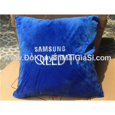 Gối tựa lưng Samsung hình vuông màu xanh - Kt: (40 x 40) cm
