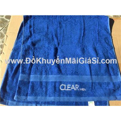 Khăn tắm Clear Men màu xanh đậm - Kt: (100 x 50) cm