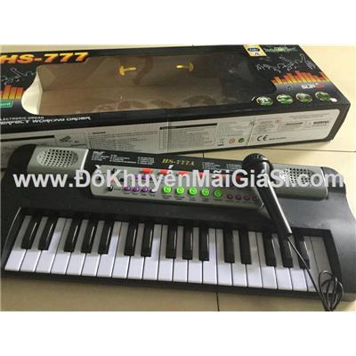 Đồ chơi đàn Organ Enfa 37 phím cho bé dùng pin có micro + ghi âm (MS: HS-777A) - Kt: (50 x 18 x 4.8) cm