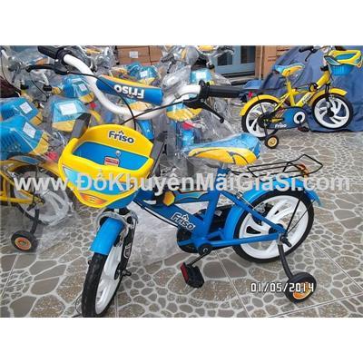 Xanh: Xe đạp Friso cho bé 3 - 5 tuổi, có giỏ trước, yên sau, bánh xe 14 in - Phí giao hàng tính riêng 30 ngàn