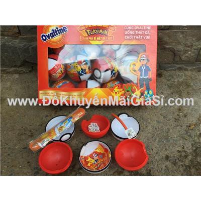 Bộ 12 trứng Pokemon Ovaltine 3 mẫu cho bé