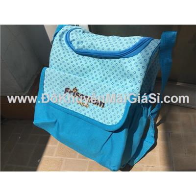 Xanh chấm bi: Túi xách Friso Mum dạng hộp nhiều ngăn cho mẹ đựng đồ bé - Kt: (28 x 22 x 15) cm- Copy