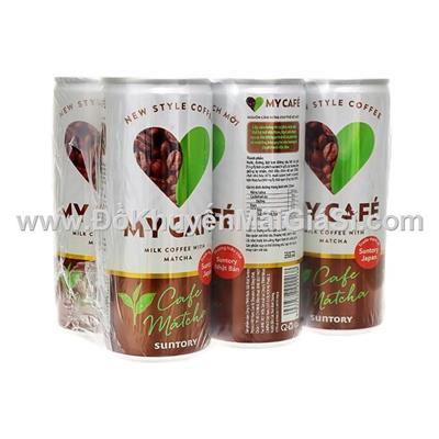 Lốc 6 lon cà phê Matcha My Cafe 235ml của Pepsi - Date 03/2019