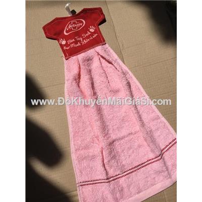 Khăn cotton lau tay Lifebuoy hình váy đầm siêu xinh - Kt: (53 x 30) cm