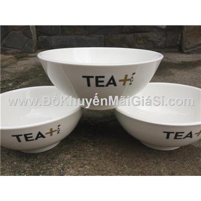 Bộ 3 tô sứ trắng Tea+ 7 in - Kt: (18 x 7.5) cm