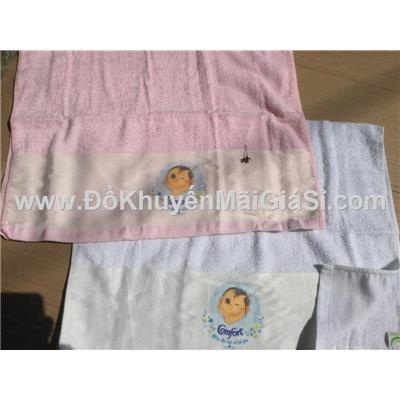 Bộ 2 khăn Comfort 2 màu có hình em bé đáng yêu - Kt khăn: (80 x 50) cm