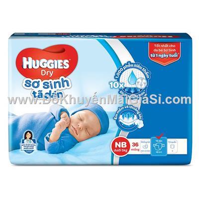 Bịch tã dán sơ sinh Huggies 36 miếng size newborn cho bé <= 5 kg - Date: 2021