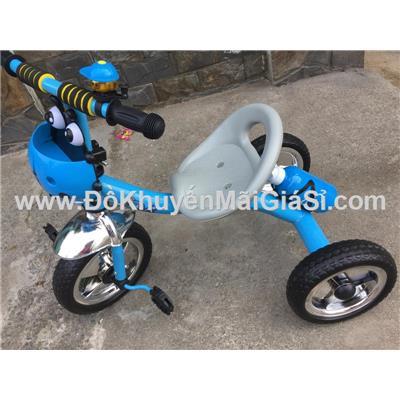 Xanh - Xe đạp 3 bánh Enfa có chuông, giỏ trước + bình nước - Kt: (70 x 48 x 60) cm - Phí giao hàng tính riêng 20 ngàn