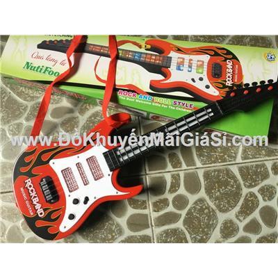 Đồ chơi đàn ghi ta Nuti dùng pin có nhạc đèn kèm pin - Kt: (52.5 x 18 x 3.5) cm