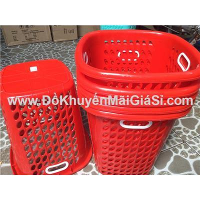 Màu đỏ: Sọt nhựa cao Tý Liên có quai cầm, Nutifood tặng - Kt: (34 x 23 x 38) cm - Phí giao hàng tính riêng 10 ngàn