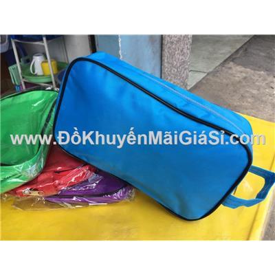 Túi đựng đồ cá nhân/ mỹ phẩm hình chữ nhật Kotex tặng - Còn 1 màu: xanh lá
