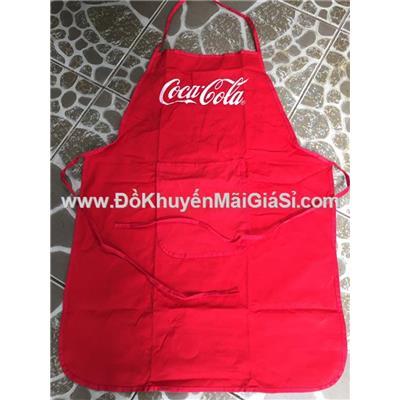 Tạp dề Coca Cola màu đỏ đậm