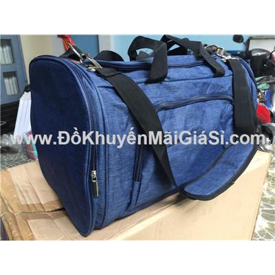 Túi xách du lịch vải Jean cỡ lớn Close up tặng