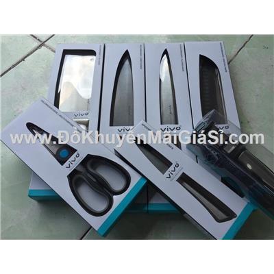 Bộ làm bếp 7 món cao cấp ViVo Đức: 1 kéo, 1 đồ mài, 5 dao khác nhau - Coop tặng