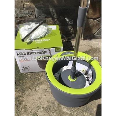 Bộ lau nhà Lock&Lock Mini Spin Mop ETM498 - 2 Bông Lau