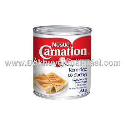 Lon kem đặc có đường Carnation 388g - Thương hiệu Nestle, nhập khẩu Thái Lan - Date: 01/2019