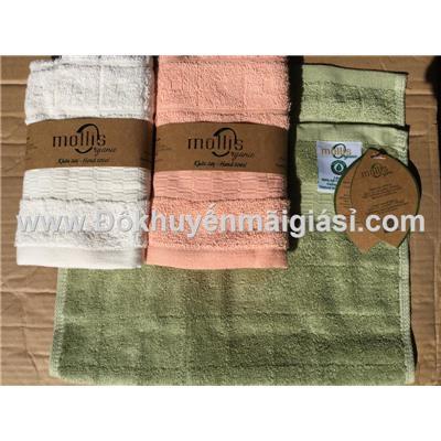 Bộ 3 khăn tay cao cấp Mollis Organic HM1Q của Phong Phú - Kt: (30 x 50) cm