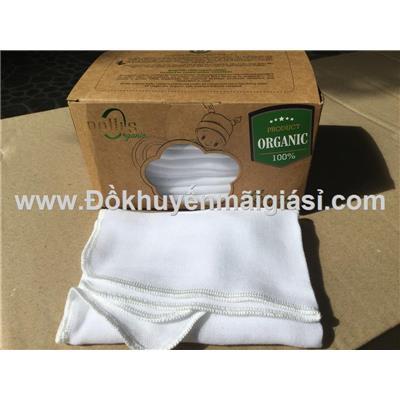 Bộ 10 khăn sữa trẻ em cao cấp Mollis Organic (HM8P) - P777 - Kt: (30 x 30) cm