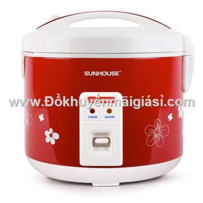 Nồi cơm nắp gài Sunhouse 1.8 lít SHD8601 - Nutifood tặng  Noi com nap gai Sunhouse 1.8 lit SHD8601 - Nutifood tang