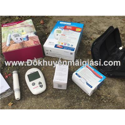 Máy đo đường huyết Sinocare Safe-Accu kèm 50 que thử- Sữa Glucerna Abbott tặng
