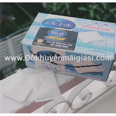 Hộp bông tẩy trang/ trang điểm cao cấp Silcot Nhật Bản 82 miếng
