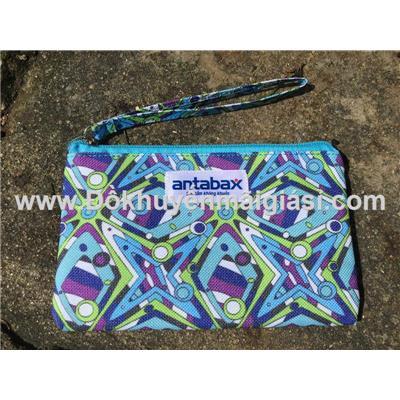 Ví hoa văn cầm tay Antabax chống ướt có dây xách size nhỏ - Kt: (17 x 13) cm