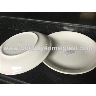 Bộ 2 dĩa sứ trắng 8 in - Kt: (21 x 3) cm - Knorr tặng