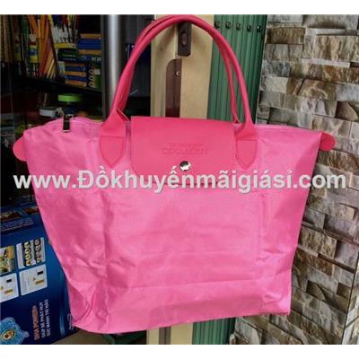 Túi xách xếp gọn Collagen màu hồng