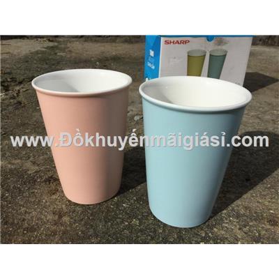 Bộ 2 ly sứ DongHwa màu pastel dung tích 400ml - Kt: (8.5 x 11.5 x 6) cm